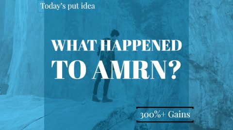 What happened to AMRN? Put ideas from morning up over 300%!